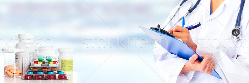 Hands of medical doctor. Stock photo © Kurhan