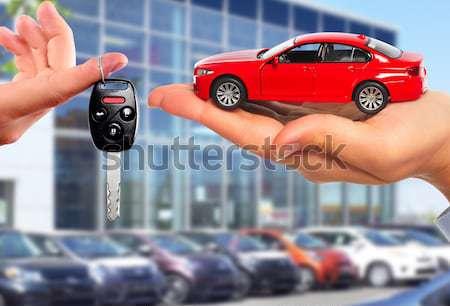 Red car and calculator. Stock photo © Kurhan