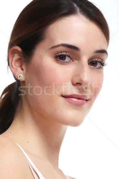 Beautiful woman face. Stock photo © Kurhan