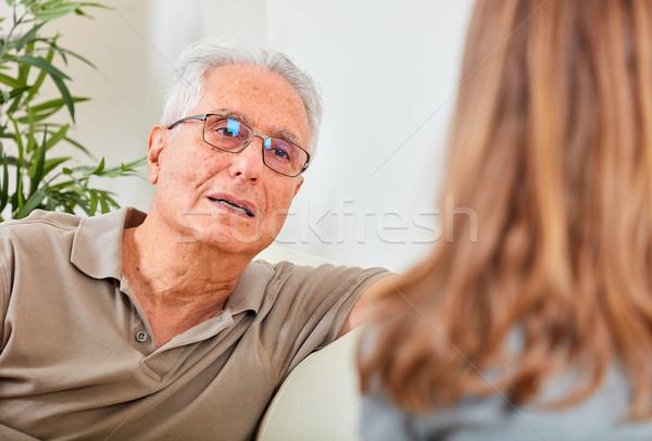 Foto d'archivio: Senior · uomo · sociale · lavoratore · vecchio