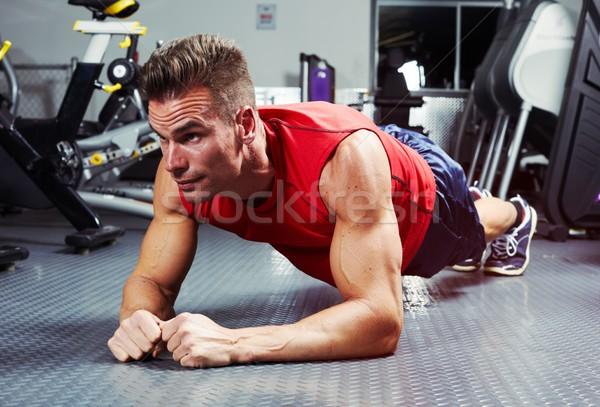 Plank exercise Stock photo © Kurhan