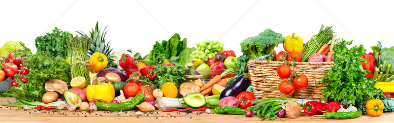 Organic vegetables and fruits Stock photo © Kurhan