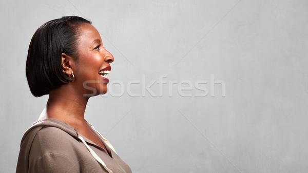 Happy black woman face profile Stock photo © Kurhan