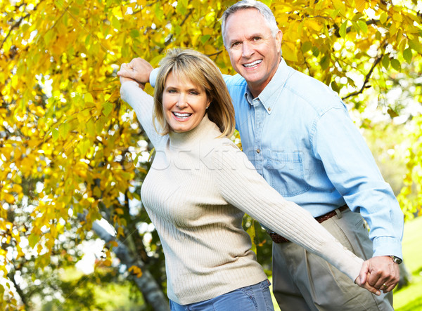 Happy elderly couple. Stock photo © Kurhan