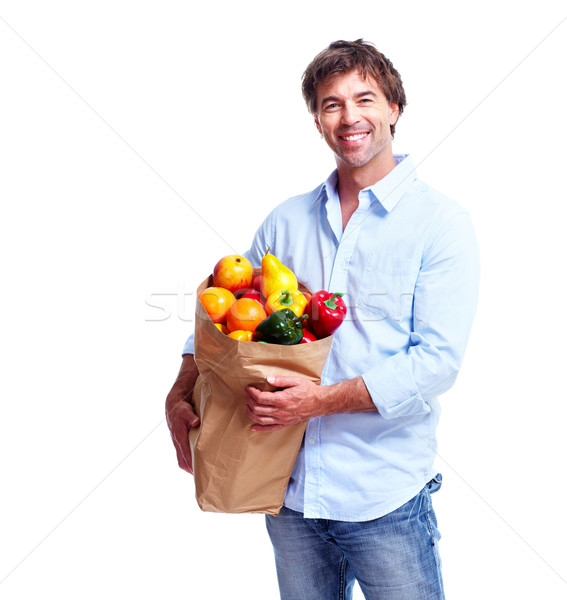 Man with a grocery bag. Stock photo © Kurhan