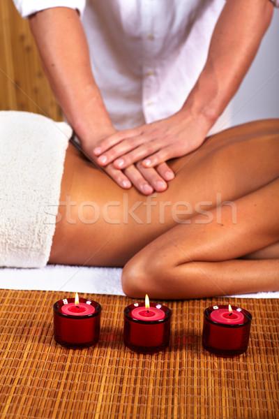 Сток-фото: Spa · массаж · салона · расслабиться · женщину