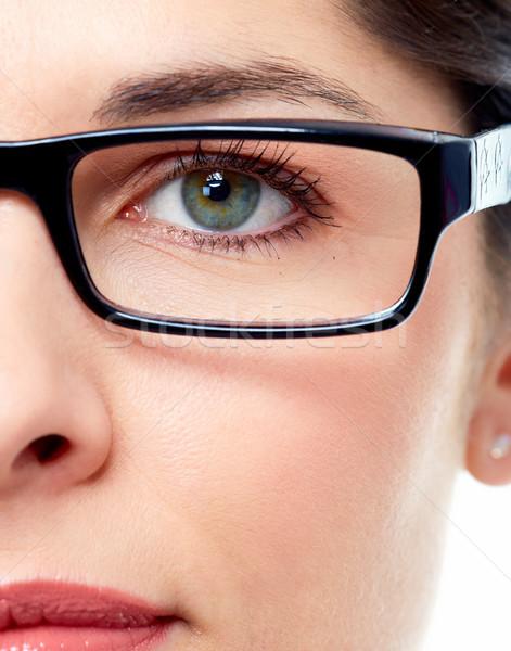 Woman eye  with eyeglasses. Stock photo © Kurhan