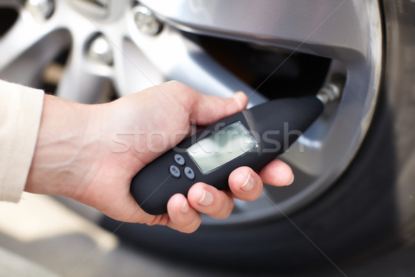 Tire pressure sensor. Stock photo © Kurhan