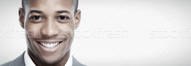 African-American black man face. Stock photo © Kurhan