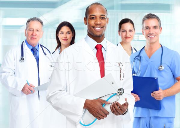 African american medical doctor man. Stock photo © Kurhan