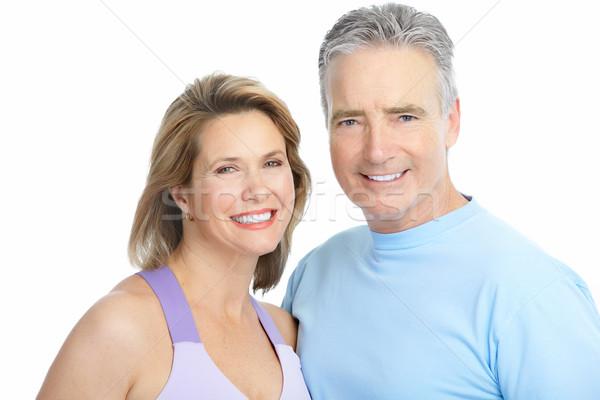 Couple heureux amour saine dents Photo stock © Kurhan