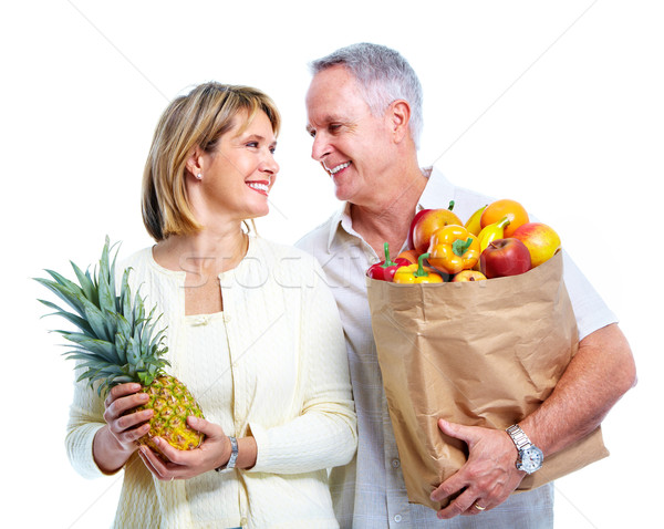 Senior couple with a shopping bag. Stock photo © Kurhan