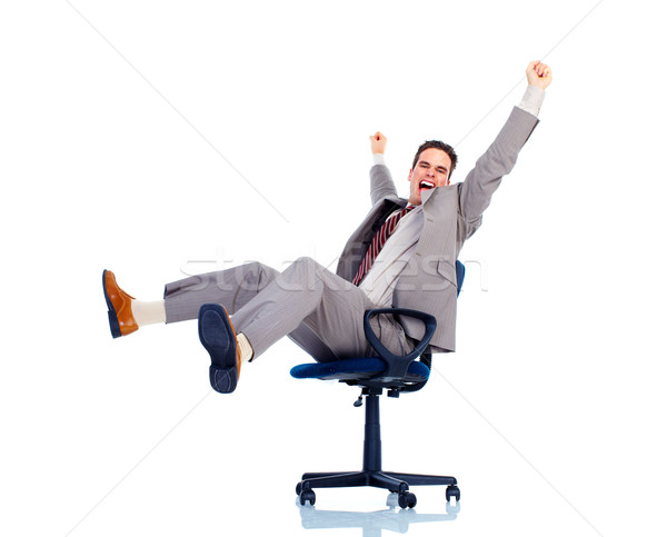 Ontspannen knap zakenman geïsoleerd witte business Stockfoto © Kurhan