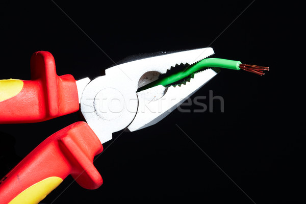 Pliers with electrical cables. Stock photo © Kurhan