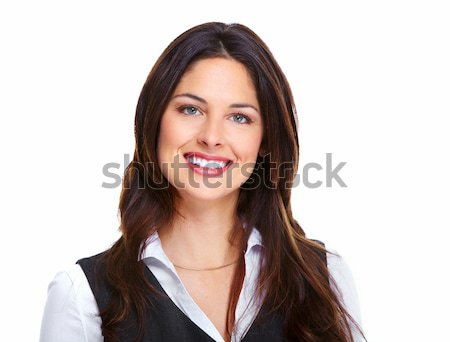 Stock photo: Beautiful young business woman.