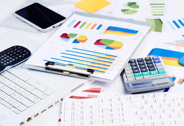 Escritório artigos de papelaria objetos financiar contabilidade negócio Foto stock © Kurhan
