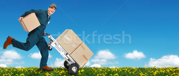 Delivery courier. Stock photo © Kurhan