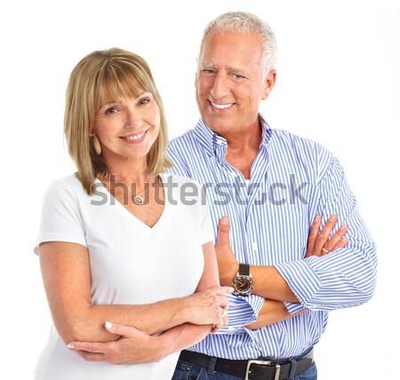 Otthon ellenőrzés vérnyomás idősek pár mér Stock fotó © Kurhan