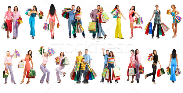 Shopping people Stock photo © Kurhan