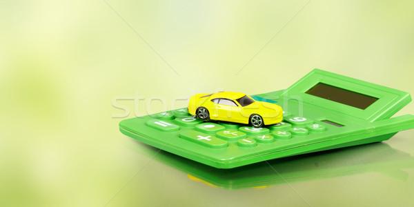 Yellow car and calculator. Stock photo © Kurhan