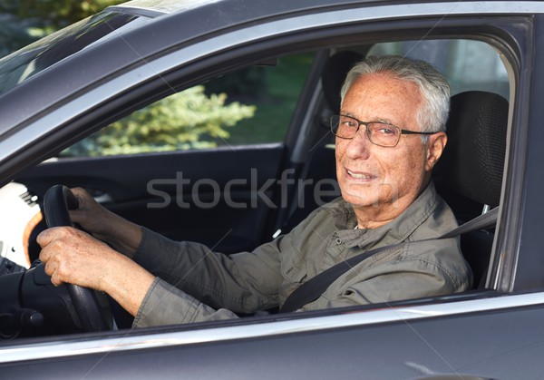 Senior car driver Stock photo © Kurhan
