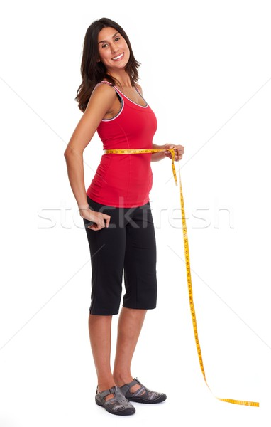 Girl losing weight. Stock photo © Kurhan