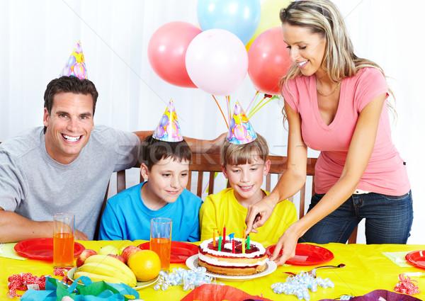 Rodziny obiedzie ojciec matka dzieci jedzenie Zdjęcia stock © Kurhan