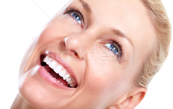 Beautiful woman. Smile and teeth. Stock photo © Kurhan