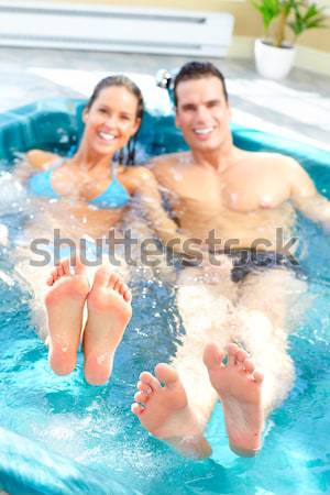 Couple in jacuzzi. Stock photo © Kurhan