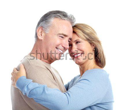 Zdjęcia stock: Szczęśliwy · starszych · para · starszy · para · miłości · odizolowany