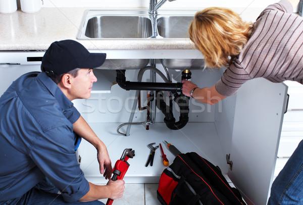 Stock photo: Professional plumber.