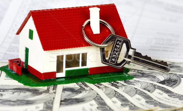 семьи дома ключевые деньги недвижимости здании Сток-фото © Kurhan