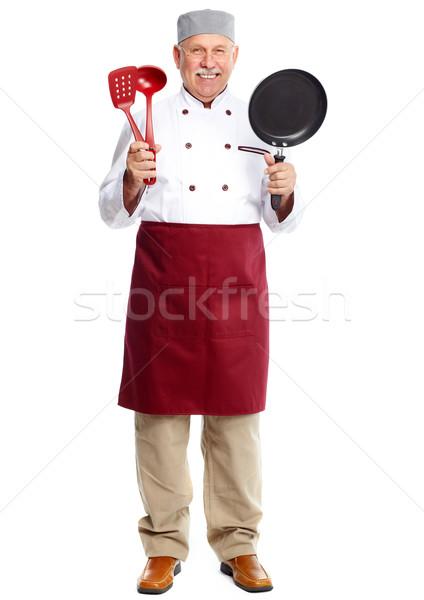 Stockfoto: Chef · volwassen · professionele · man · geïsoleerd · witte