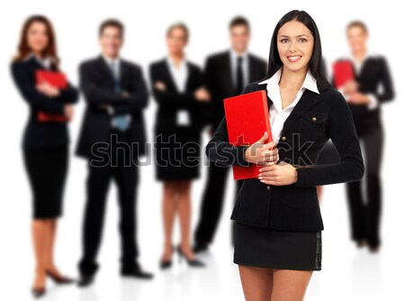 Businesswoman and team Stock photo © Kurhan