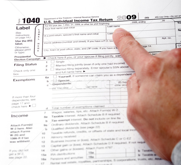 форме 1040 доход налоговых возврат стандартный Сток-фото © Kurhan