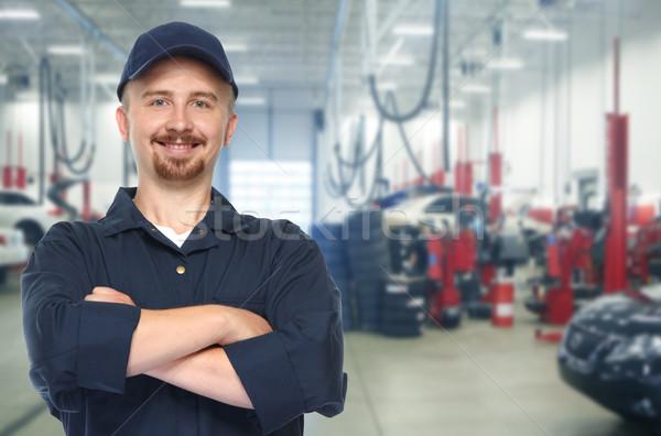 笑みを浮かべて 車 メカニック 自動 修復 サービス ストックフォト © Kurhan