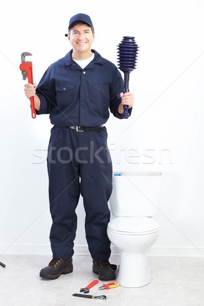 Stockfoto: Loodgieter · volwassen · man · bouw · werk · werknemer