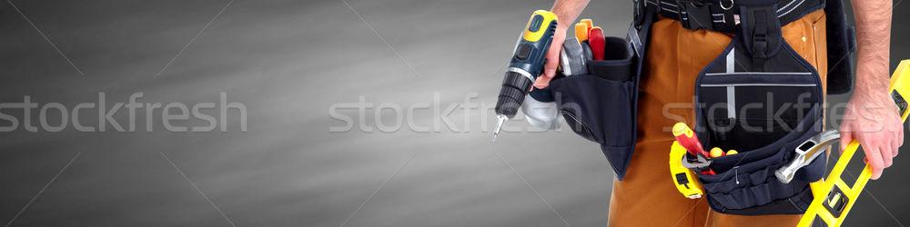 Builder handyman. Stock photo © Kurhan