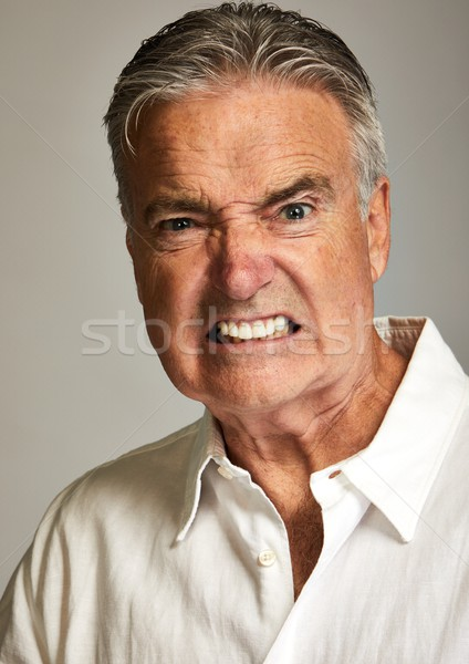 Angry screaming man Stock photo © Kurhan