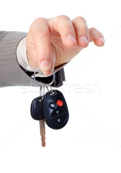 ビジネスマン 車のキー 孤立した 白 ビジネス ストックフォト © Kurhan