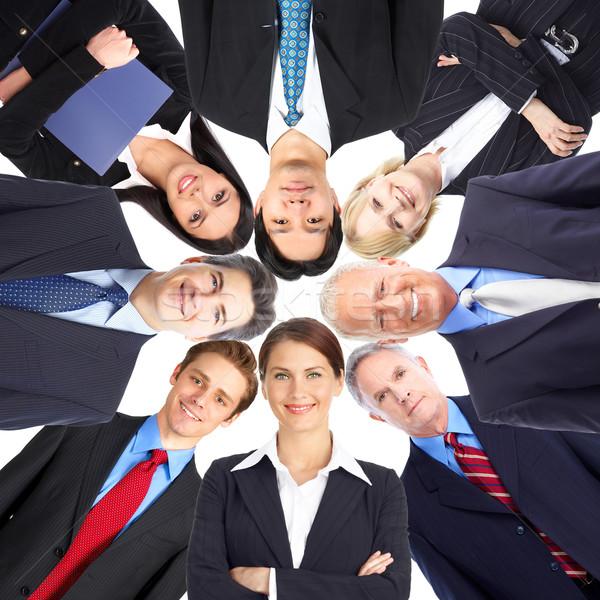 Uomini d'affari squadra gruppo sorridere squadra di affari business Foto d'archivio © Kurhan
