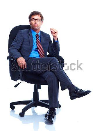 üzletember mosolyog izolált fehér üzlet férfi Stock fotó © Kurhan
