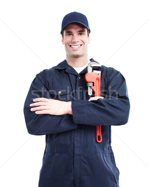 Loodgieter glimlachend knap man werk Stockfoto © Kurhan