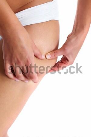 Mulher celulite isolado branco corpo fitness Foto stock © Kurhan