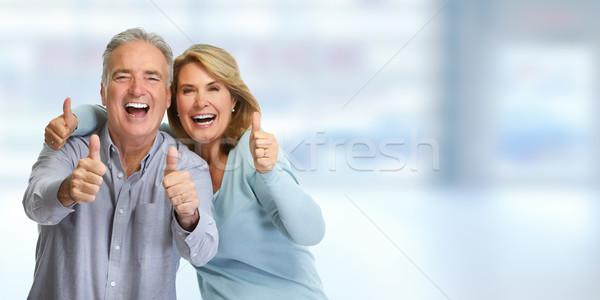 Happy mature couple. Stock photo © Kurhan
