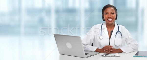 African American Doctor woman. Stock photo © Kurhan