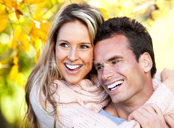Happy couple. Stock photo © Kurhan