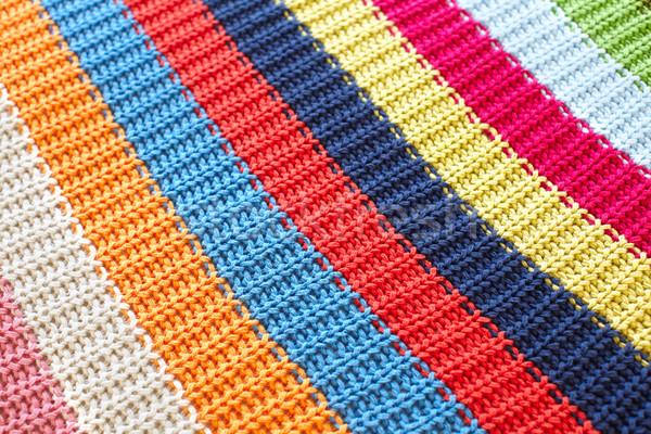 Színes papírzsebkendő szövet absztrakt háttér kék Stock fotó © Kurhan