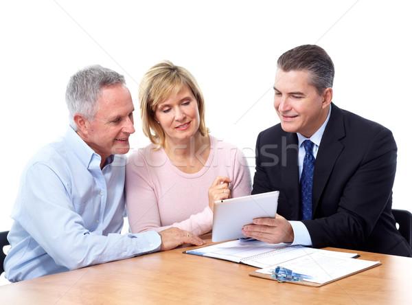 Financiële raadgever geïsoleerd witte paar Stockfoto © Kurhan