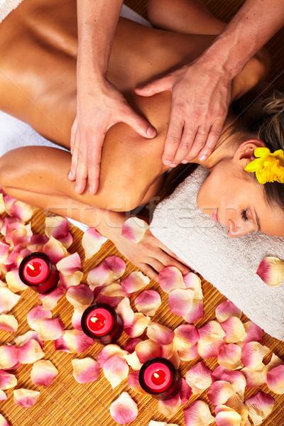 Сток-фото: Spa · массаж · салона · расслабиться · стороны